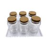 LanJing Wholesales 30ml 50ml 100ml Food Glass Jar with Cork Lid