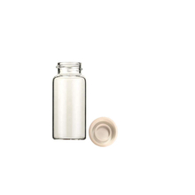 366228211 Borosilicate Glass Scintillation Vials with Polyethylene Cap Linerless Liner, 20mL Capacity (Case of 500)