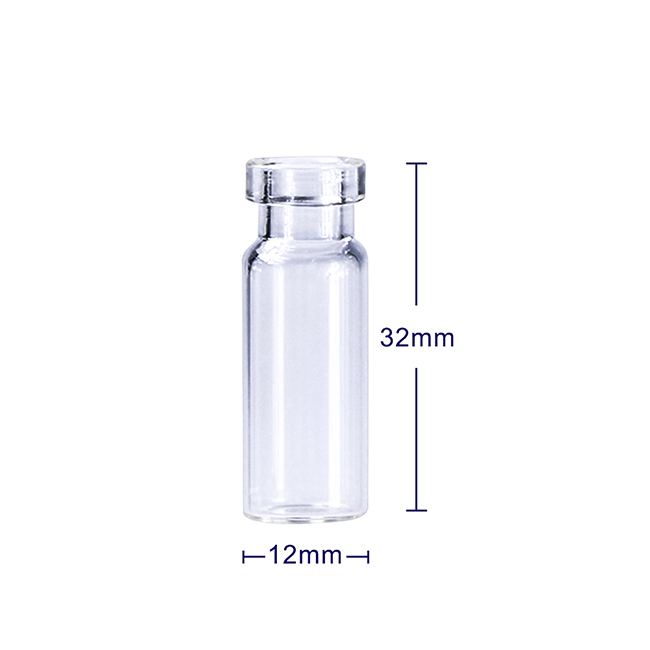 LanJing 2ml 11mm Clear Crimp Chromatography Vial with PTFE Silicone Septa