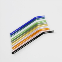 LanJing 14mm Glass Straws for Pearl Milk Tea Reusable High Borosilicate Smoothie Glass Straws