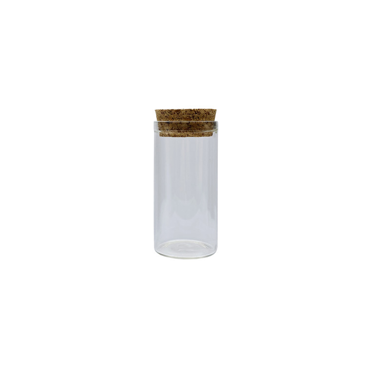 Lanjing China Supplier Glass Jar with Cork Lid for Food