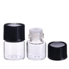 LanJing 1ml 1/4 Dram Clear Essential Oil Bottle with Orifice Reducer