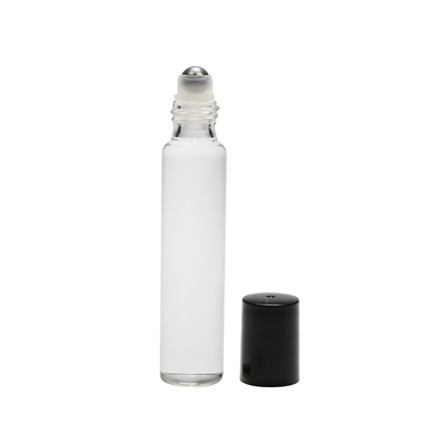 LanJing 10ml Roll on Bottle Amber Refillable Roll on Applicator Bottle with Stainless Steel Ball