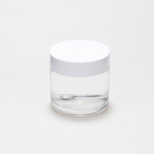 LanJing Empty Glass Cosmetic Jars 100ml Glass Cream Jar with Plastic White Cap