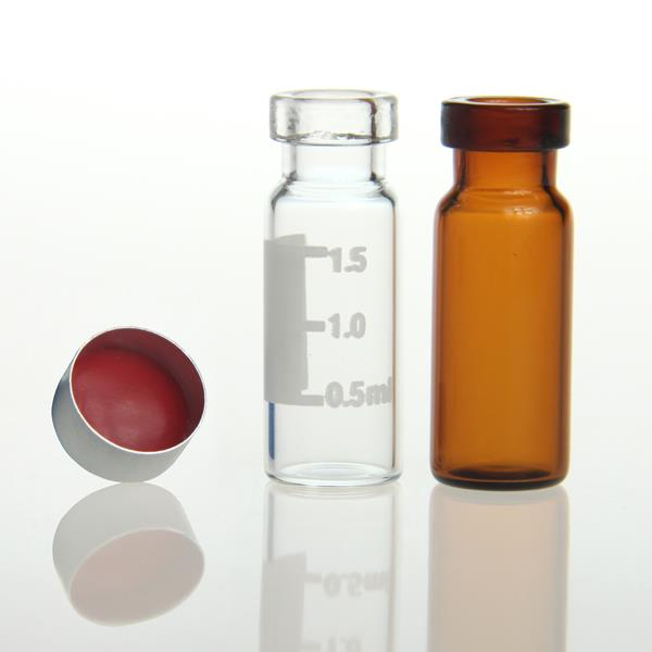 LanJing 2ml 11mm Clear Amber Crimp HPLC Vials for Analysis Equipment